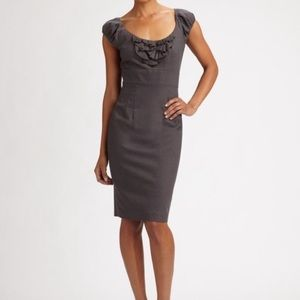 Rebecca Taylor Pinstripe Sleeveless Sheath Dress